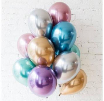 Metalizēts (chrome) balons, zils (30 cm)