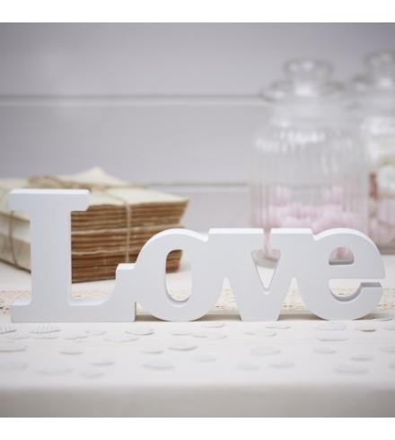 "Koka uzraksts ""LOVE"", balts"