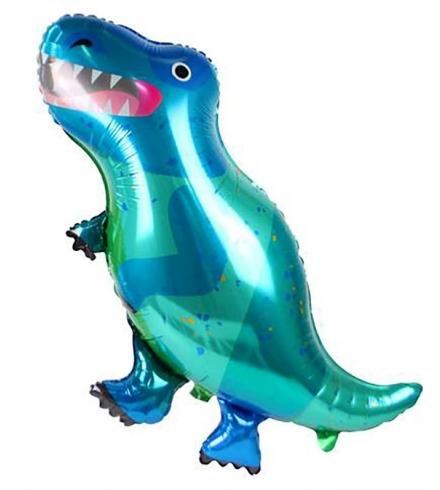 """Форменный фольгированный шарик """"Динозавр ТИРекс"""" (90х55 см)"""