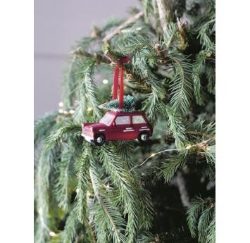 """Рождественское украшение """"Машинка с елкой"""""""