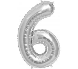 "Follija balons ""6"", sudraba (85cm)"