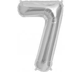 "Follija balons ""7"", sudraba (85cm)"