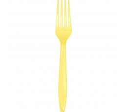 Dakšiņas, dzeltenīgas (24 gab)