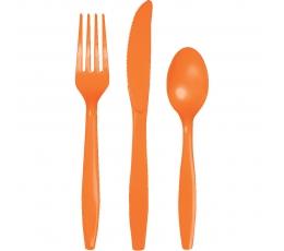 Galda piederumu komplekts, oranžs (8-am personām)