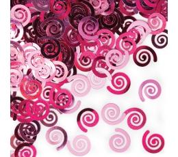 """Конфетти """"Розовые  рулоны"""""""