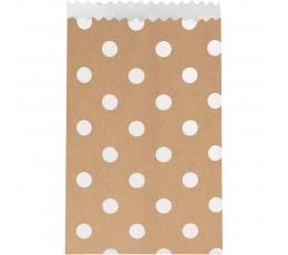 """Mini dāvanu maisiņi, punktaini """"Kraft"""" (20 gab)"""