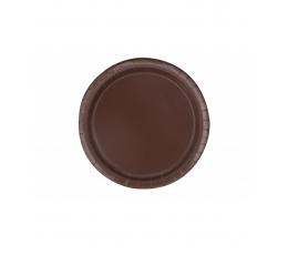 Тарелочки, коричневые (20 шт/ 18 см)