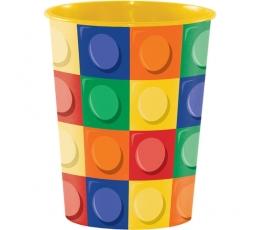 """Пластмассовый стаканчик """"Кубики"""""""