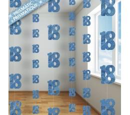 """Karināmas dekorācijas """"18"""", zilas (6 gab/ 1,5 m)"""