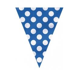 Karodziņu vītne, zila ar punktiem (3,65 m)