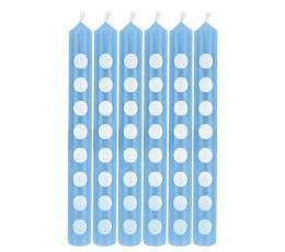 Svecītes, gaiši zilas ar punktiem (12 gab)