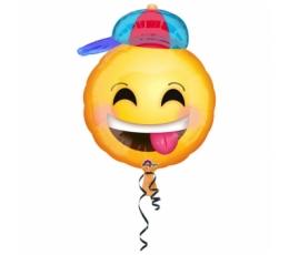 """Folinis balionas """"Šypseniukas su kepure"""" (43 cm)"""