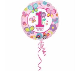 """Folija balons """"Taurenis, 1-ā dzimšanas diena"""" (45 cm)"""