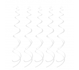 """Подвесные декорации """"Белые спирали"""" ( 5 шт)"""