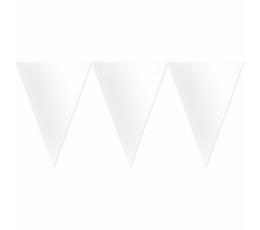 Karodziņu virtene, balta (4,5 m)