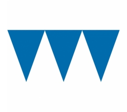 Karodziņu virtene, tumši zila (4.5m)