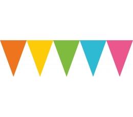 Karodziņu vītne, daudzkrāsaina (4,5 m)