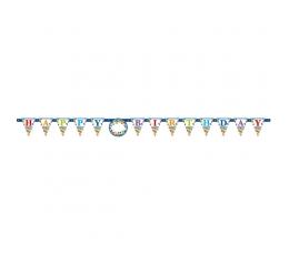 """Virtene ar uzlīmēm - cipariem """"Happy Birthday"""" (3,2 m)"""