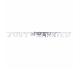 "Гирлянда ""Just married"" , серебряная(1,3 m)"