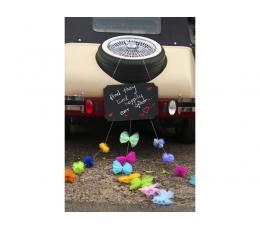 Декорация для автомобиля, меловая доска с лентами