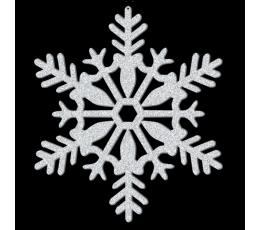"""Karināma dekorācija """"Spīdīga sniegpārsla"""" (28 cm)"""