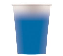 Бумажные стаканчики, синие омбре (8 шт/ 200 мл)
