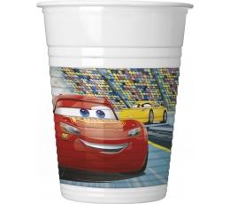 """Plastmasas glāzītes """"Vāģi 3"""" (8 gab/ 200 ml)"""