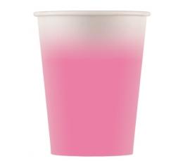 Бумажные стаканчики, розовое омбре (8 шт/ 200 мл)