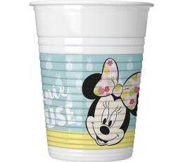 """Plastmasas glāzītes """"Pelītes Minnijas kafejnīca"""" (8 gab/200 ml)"""