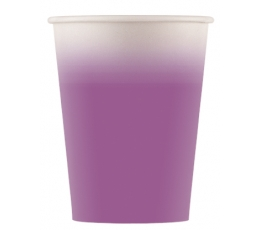 Papīra glāzītes, violetes ombre (8 gab/ 200 ml)