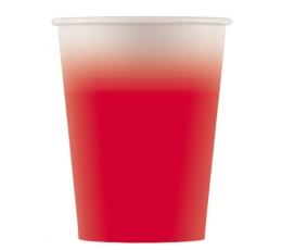 Papīra glāzītes, sarkans ombre (8 gab/ 200 ml)