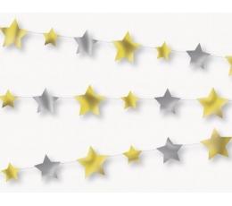 Virtene, zelta-sudraba zvaigznītes (2,13 m)