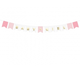 """Virtene """"Baby girl"""", rozā-zelta (1,6 m)"""