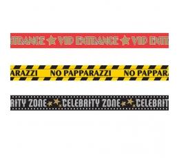 """Dekoratīvas lentas """"VIP zona"""" (3 gab/9,1 m)"""