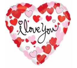 """Фольгированный шарик """"I love you"""" (45 см)"""