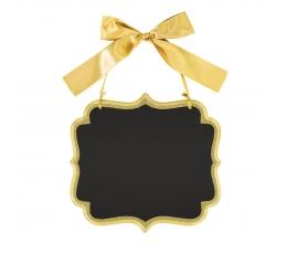 Karināma krīta tāfele ar zelta lentu (25 x 23 cm)