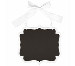 Karināma krīta tāfele ar baltu lenti (25 x 23 cm)
