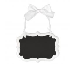 Mini krītatāfele ar baltu lenti (14 x 10 cm)