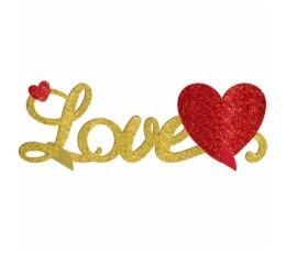 "Galda dekorācija ""Love"", spīdīga (35x11 cm)"