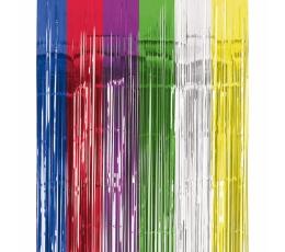 Разноцветные, фольгированные занавески (240 х 90 см)