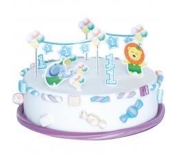 """Tortes dekorāciju komplekts """"Pirmā dzimšanas diena"""" puisītim"""