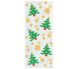 """Dāvanu maisiņi """"Ziemassvētku eglītes"""" (20 gab)"""