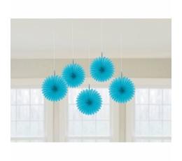 Karināmas dekorācijas-vēdekļi, zili (5 gab)
