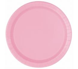 Šķīvīši, maigi rozā (8 gab/17 cm)