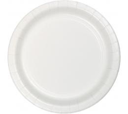 Šķīvīši, balti (8 gab/ 18 cm)