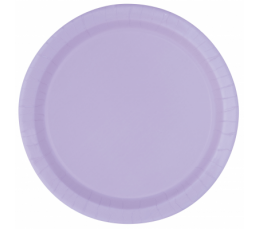 Тарелочки , лиловыe(8 шт/ 18 см)
