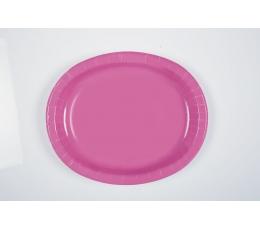 Šķīvīši, paplātes, rozā(8 gab/30 cm)