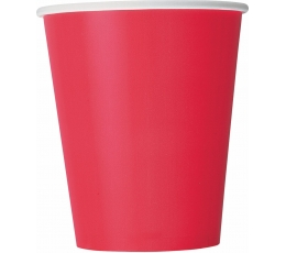 Glāzītes, spilgti sarkanas (14 gab/266 ml)