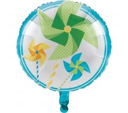 """Folija balons """"Zilganas vējdzirnavas"""" (45 cm)"""