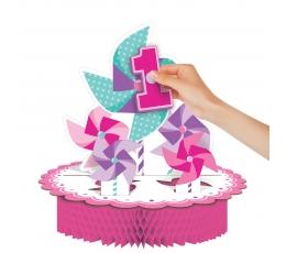 """Galda dekorācija """"Rozā vējdzirnavas"""" (1gab)"""